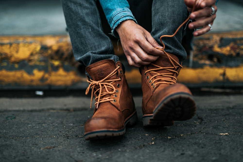 botas hombre de piel